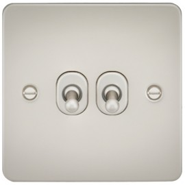 Knightsbridge FP2TOGPL 10A 2G 2 Way Toggle Switch Pearl
