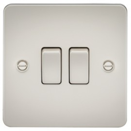 Knightsbridge FP3000PL 10A 2G 2 Way Switch Pearl