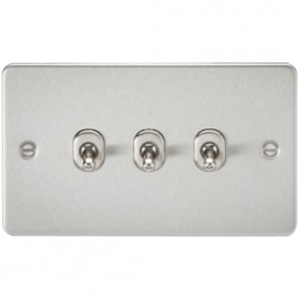 Knightsbridge FP3TOGBC 10A 3G 2 Way Toggle Switch Brushed Chrome