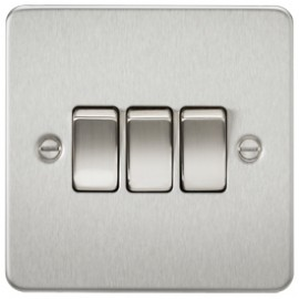 Knightsbridge FP4000BC 10A 3G 2 Way Switch Brushed Chrome