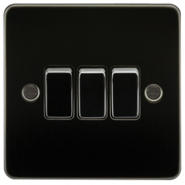 Knightsbridge FP4000GM 10A 3G 2 Way Switch Gunmetal