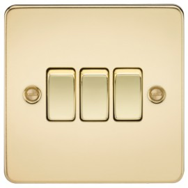 Knightsbridge FP4000PB 10A 3G 2 Way Switch Polished Brass