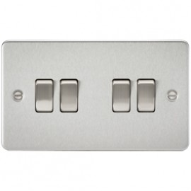 Knightsbridge FP4100BC 10A 4G 2 Way Switch Brushed Chrome