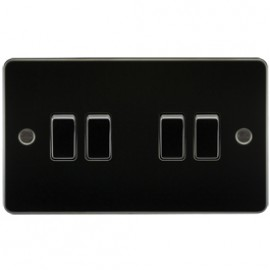 Knightsbridge FP4100GM 10A 4G 2 Way Switch Gunmetal