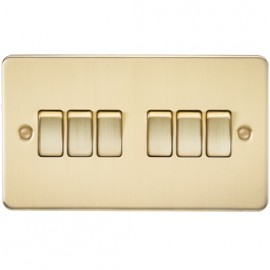 Knightsbridge FP4200BB 10A 6G 2 Way Switch Brushed Brass