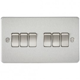 Knightsbridge FP4200BC 10A 6G 2 Way Switch Brushed Chrome