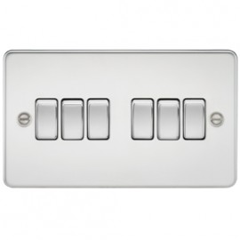 Knightsbridge FP4200PC 10A 6G 2 Way Switch Polished Chrome