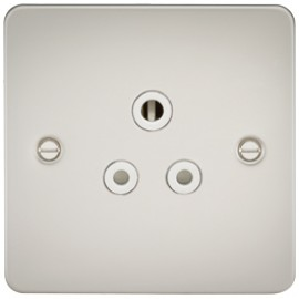 Knightsbridge FP5APLW 5A 1G Round Pin Socket Pearl & White