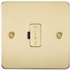 Knightsbridge FP6000BB 13A 1G Fused Spur Unit Brushed Brass