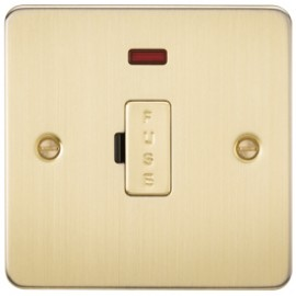 Knightsbridge FP6000NBB 13A 1G Fused Spur Unit With Neon Brushed Brass