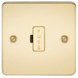 Knightsbridge FP6000PB 13A 1G Fused Spur Unit Polished Brass