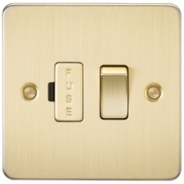 Knightsbridge FP6300BB 13A 1G Switched Fused Spur Unit Brushed Brass