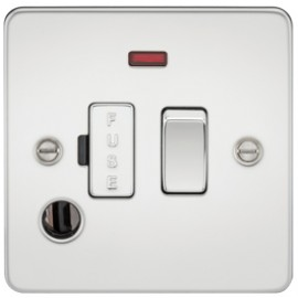 Knightsbridge FP6300FPC 13A 1G Switched Fused Spur Unit With Neon & Flex Outlet Polished Chrome