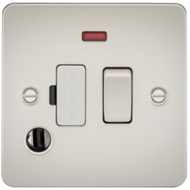 Knightsbridge FP6300FPL 13A 1G Switched Fused Spur Unit With Neon & Flex Outlet Pearl
