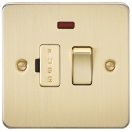 Knightsbridge FP6300NBB 13A 1G Switched Fused Spur Unit With Neon Brushed Brass