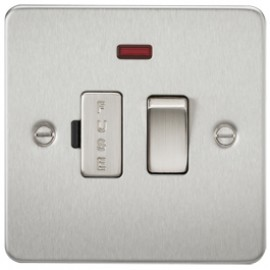 Knightsbridge FP6300NBC 13A 1G Switched Fused Spur Unit With Neon Brushed Chrome