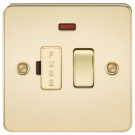Knightsbridge FP6300NPB 13A 1G Switched Fused Spur Unit With Neon Polished Brass
