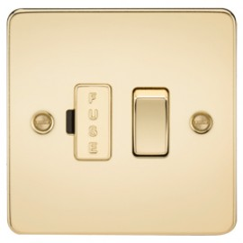 Knightsbridge FP6300PB 13A 1G Switched Fused Spur Unit Polished Brass