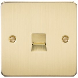 Knightsbridge FP7300BB 1G Telephone Master Socket Brushed Brass