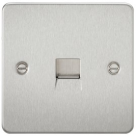 Knightsbridge FP7300BC 1G Telephone Master Socket Brushed Chrome