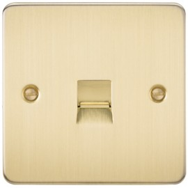 Knightsbridge FP7400BB 1G Telephone Extension Socket Brushed Brass