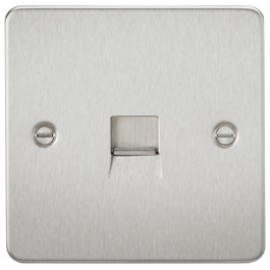 Knightsbridge FP7400BC 1G Telephone Extension Socket Brushed Chrome