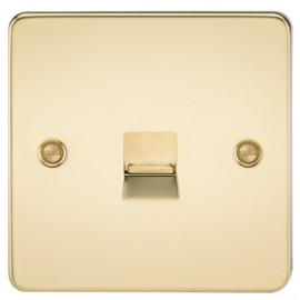 Knightsbridge FP7400PB 1G Telephone Extension Socket Polished Brass
