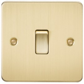 Knightsbridge FP8341BB 20A 1G DP Switch Brushed Brass