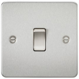 Knightsbridge FP8341BC 20A 1G DP Switch Brushed Chrome