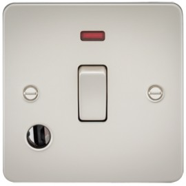 Knightsbridge FP8341FPL 20A 1G DP Switch With Neon & Cord Outlet Pearl