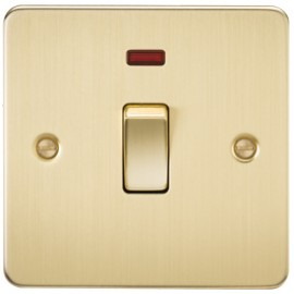 Knightsbridge FP8341NBB 20A 1G DP Switch With Neon Brushed Brass