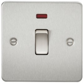 Knightsbridge FP8341NBC 20A 1G DP Switch With Neon Brushed Chrome