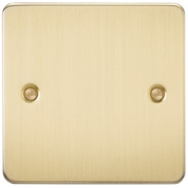 Knightsbridge FP8350BB 1G Blanking Plate Brushed Brass