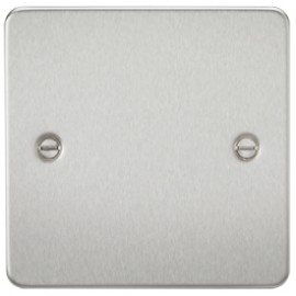 Knightsbridge FP8350BC 1G Blanking Plate Brushed Chrome