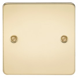 Knightsbridge FP8350PB 1G Blanking Plate Polished Brass