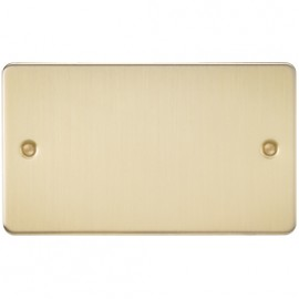 Knightsbridge FP8360BB 2G Blanking Plate Brushed Brass