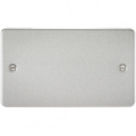 Knightsbridge FP8360BC 2G Blanking Plate Brushed Chrome