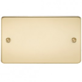 Knightsbridge FP8360PB 2G Blanking Plate Polished Brass