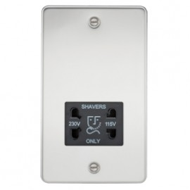 Knightsbridge FP8900PC 115V/240V Dual Voltage Shaver Socket Polished Chrome & Black