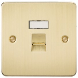 Knightsbridge FPRJ45BB 1G RJ45 IDC Network Outlet Brushed Brass