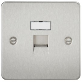 Knightsbridge FPRJ45BC 1G RJ45 IDC Network Outlet Brushed Chrome