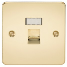 Knightsbridge FPRJ45PB 1G RJ45 IDC Network Outlet Polished Brass