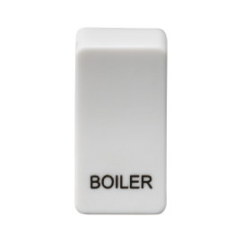 "Knightsbridge GDBOILU Switch cover ""marked BOILER"" - white"