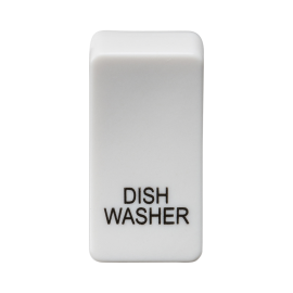 "Knightsbridge GDDISHU Switch cover ""marked DISHWASHER"" - white"