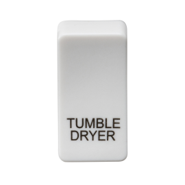 "Knightsbridge GDDRYU Switch cover ""marked TUMBLE DRYER"" - white"