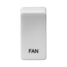 "Knightsbridge GDFANU Switch cover ""marked FAN"" - white"