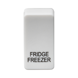 "Knightsbridge GDFRIDU Switch cover ""marked FRIDGE/FREEZER"" - white"