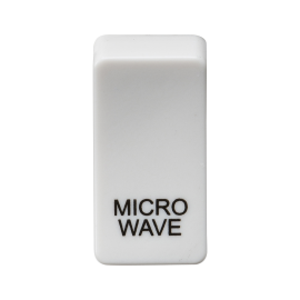 "Knightsbridge GDMICROU Switch cover ""marked MICROWAVE"" - white"