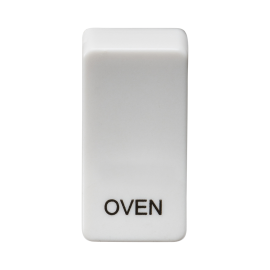 "Knightsbridge GDOVENU Switch cover ""marked OVEN"" - white"