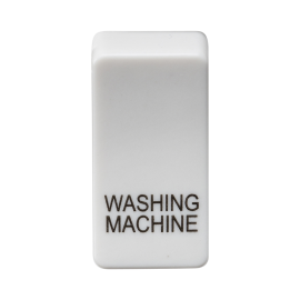 "Knightsbridge GDWASHU Switch cover ""marked WASHING MACHINE"" - white"